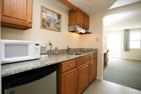 Cape May hotel room with microwave