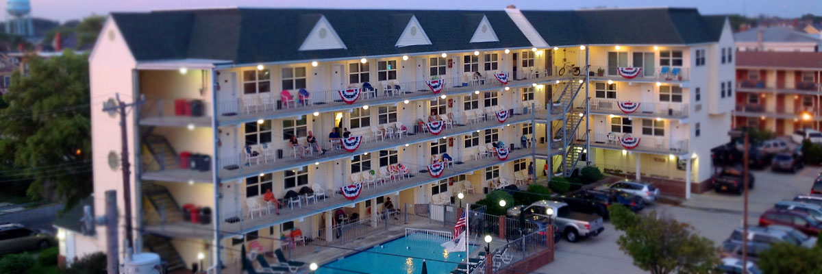 Cape May Hotels >> Cape May Oceanfront Hotel Camelot Motel